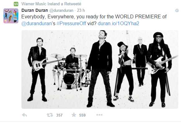 duran duran, paper gods, pressure off video, pressure off official video, janelle monae, nile rodgers, warner music group, warner music france, SOS warner music france