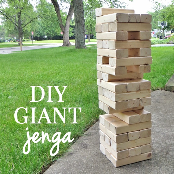 How to make a jumbo jenga yard game