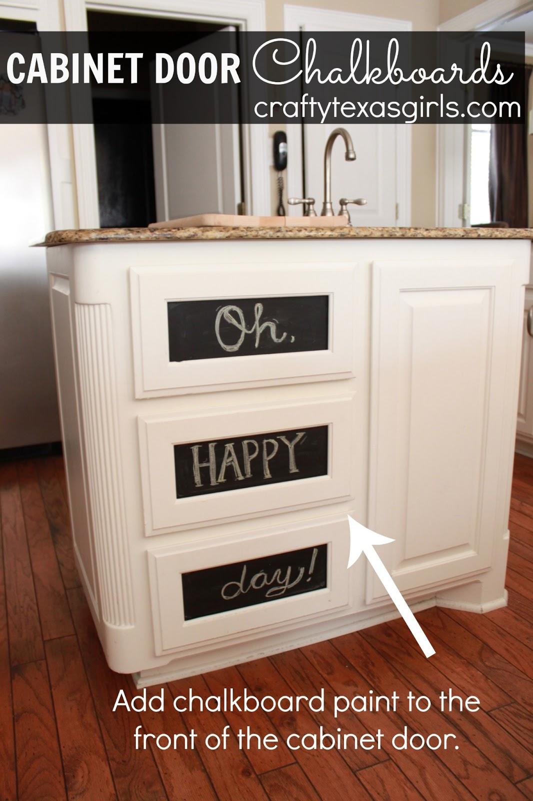 Crafty Texas Girls: Crafty How-To: Cabinet Door ...