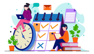Vector image about timetable management
