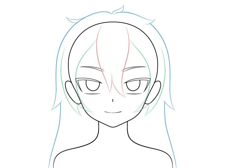 Gambar belakang rambut gadis vampir anime