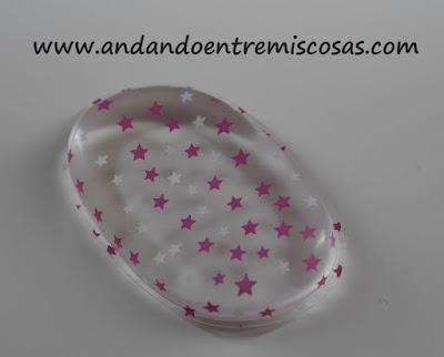 Esponja de maquillaje de silicona con dibujo de estrellas
