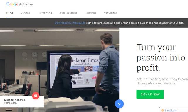 Cara cepat dan mudah membuat Akun Google Adsense BUG Indonesia