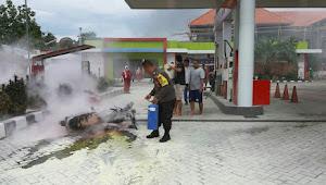 Ternyata, Motor Milik Pegawai SPBU Ammesangeng Terbakar