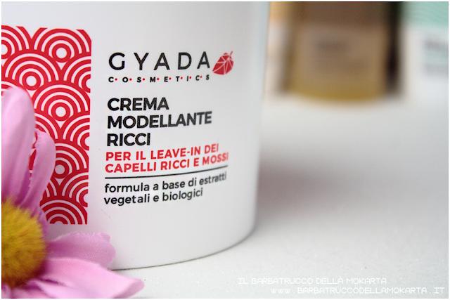 crema modellante ricci  recensione gyada cosmetics, vegan bio, capelli hair routine