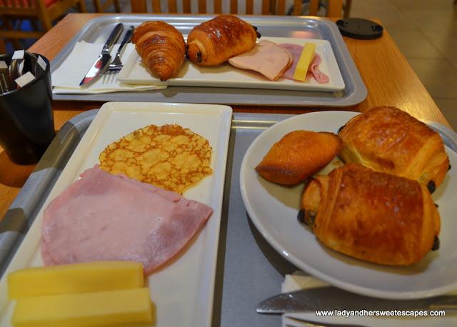 French breakfast at Ibis Paris Hotel