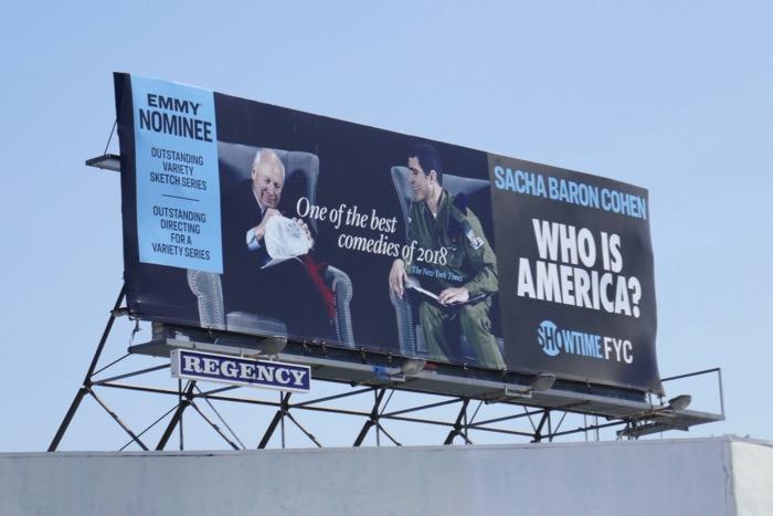 Who Is America season 1 Emmy nominee billboard