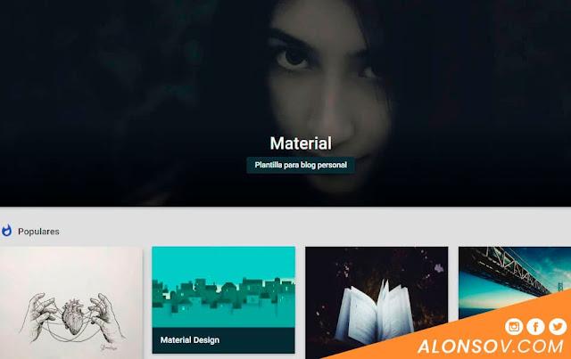 Plantillas material Design para Blogger
