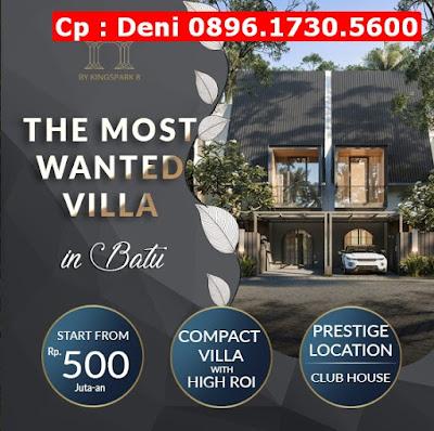 Rumah Villa Villa Dijual di Batu,  FREE Kanopi, Lokasi Strategis, CP 0896.1730.5600