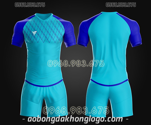 Áo bóng đá ko logo TA Spe màu xanh ngọc