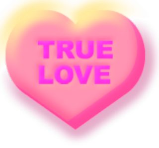 True Love Candy Heart Clipart Printables