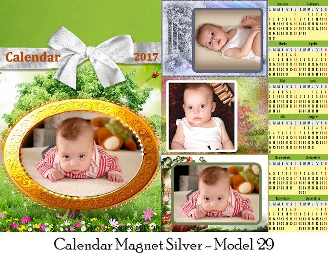calendar magnetic SILVER