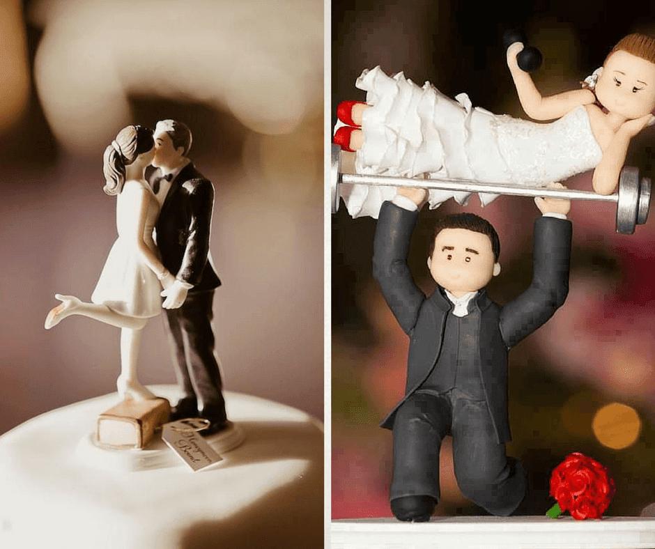 красиви сватбени фигурки за торти