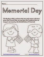 Primary Inspiration: Memorial Day Activities and Freebies