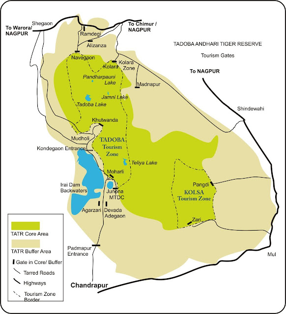 Tadoba National Park Map