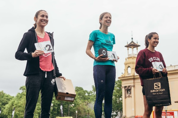 Podio Femenino Salomon Run Barcelona 2018