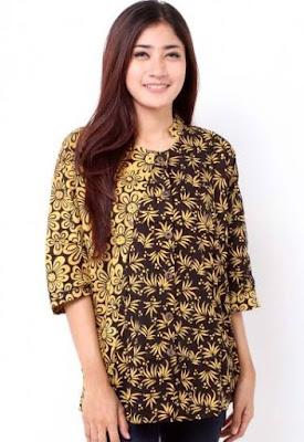 model baju batik wanita lengan panjang untuk pesta