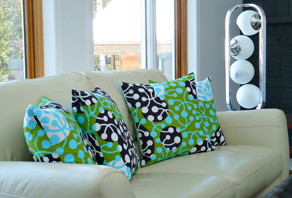 Bold marimekko pillows