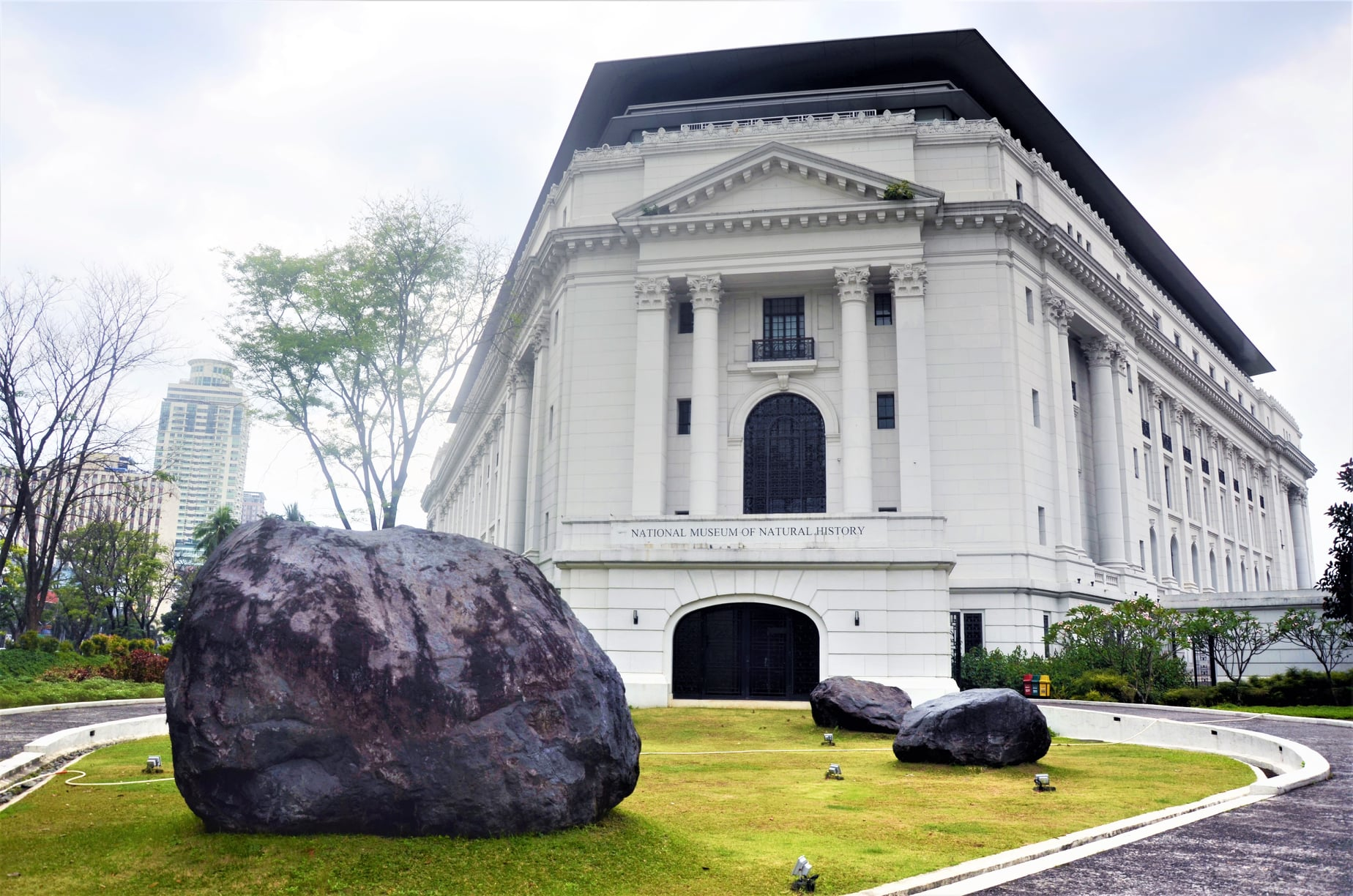 boulders are at the entrance of National Museum of Natural History Philippines