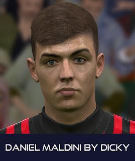 PES 2017 Faces Daniel Maldini by Dicky