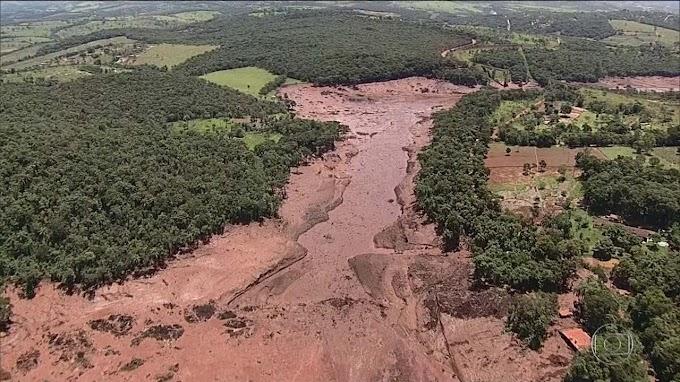 TRAGÉDIA: Rompimento de barragem em Brumadinho.