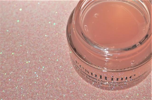 Un gel rosé translucide