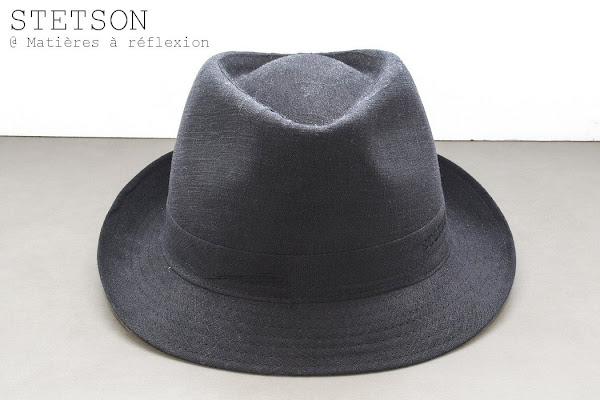 Chapeau soldé femme lin noir
