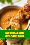 #Thai #Chicken #Satay #with #Peanut #Sauce