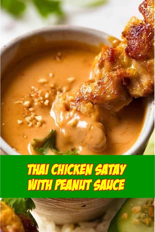 #Thai #Chicken #Satay #with #Peanut #Sauce