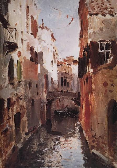 Исаак Ильич Левитан - Канал в Венеции. 1890