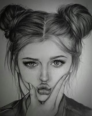صور رسم بنت شخصية للبروفايل