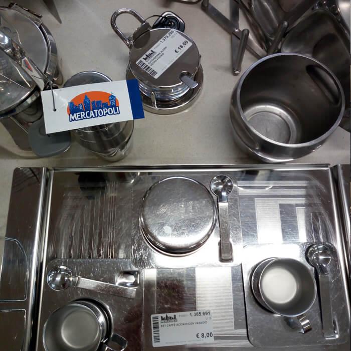 Oggettistica da cucina presso sede Mercatopoli di Villa Guardia
