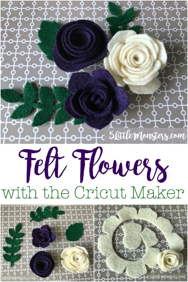 5 Little Monsters Felt Flowers With The Cricut Maker
