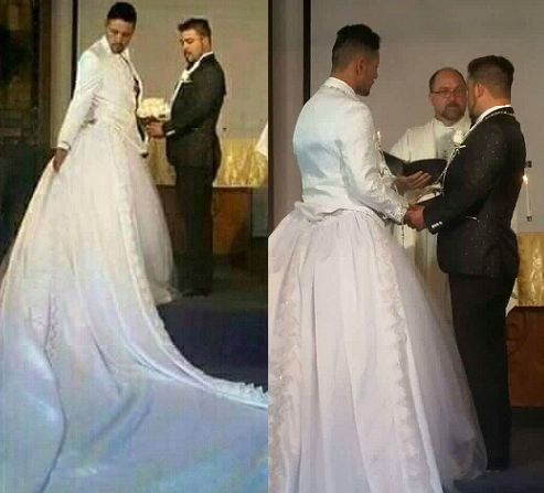 gay wedding dress