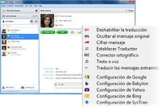Clownfish translator for Skype