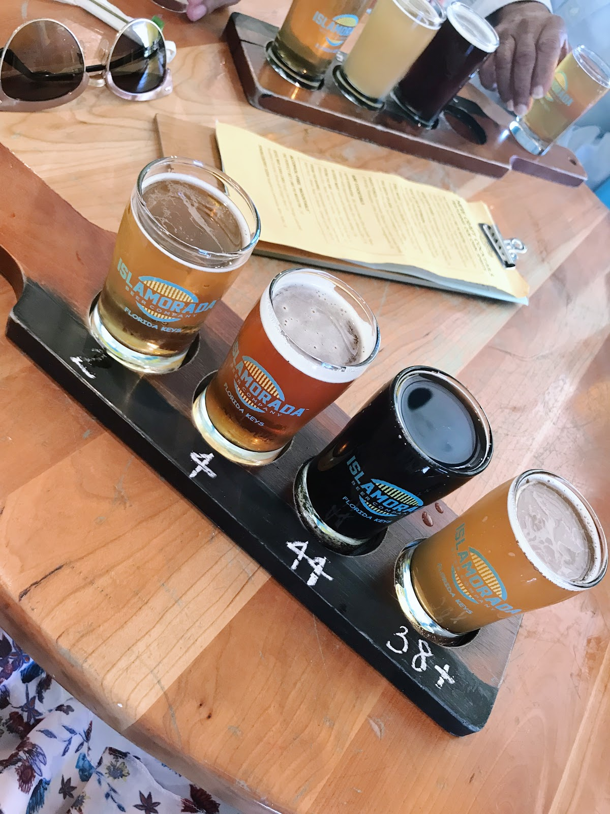 Islamorada beer company flight tasting