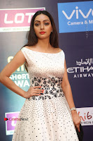 Actress Pooja Salvi Stills in White Dress at SIIMA Short Film Awards 2017 .COM 0053.JPG