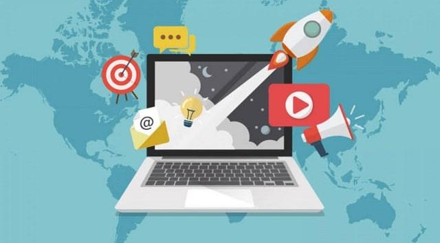bird's eye view digital marketing world