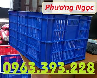 Sọt nhựa đựng nông sản cao 31, sóng nhựa công nghiệp, sọt rỗng HS004 74