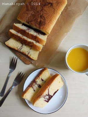 Marble Japanese Cheese Cake in Loaf Pan