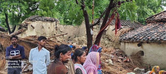 जौनपुर: कच्ची दीवार गिरने से एक  की मौत,चार घायल