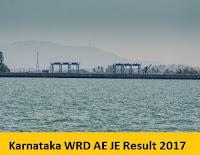 Karnataka WRD AE JE Result