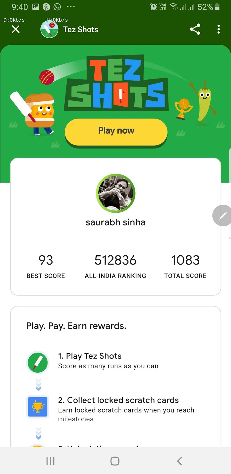 Play Cricket In Google Pay Tez And Earn Up To Rs 2000