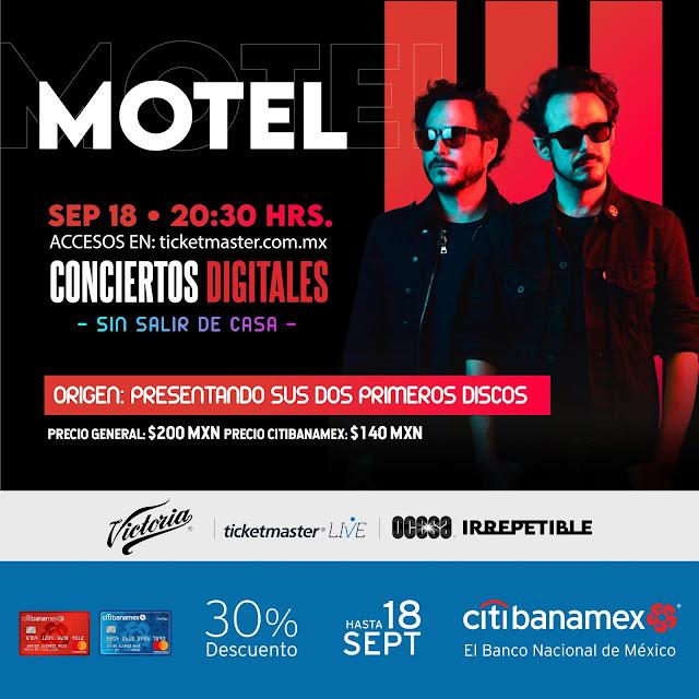 """Motel llega en formato streaming con un concierto """"Irrepetible"""" presentando sus primeros dos discos"""