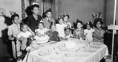 African Americans celebrating birthday