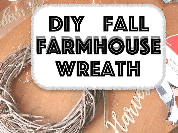 DIY Simple Fall Farmhouse Wreath 2019  | Wreath Idea #1