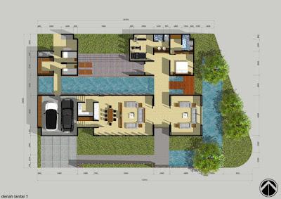 tips desain rumah minimalis 2 kamar yang dilengkapi denah