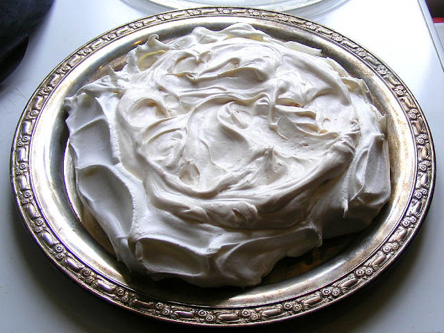 Pavlova ready for fruit decoration. Photo by Loire Valley Time Travel.