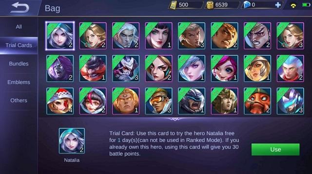Cara Mencoba Hero Mobile Legends Sebelum Membeli