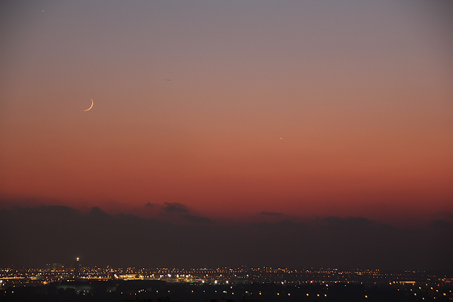 New moon and Venus and Mercury- Gadi Eidelheit